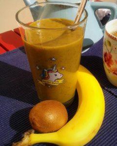 Grüner #Bananensmoothie