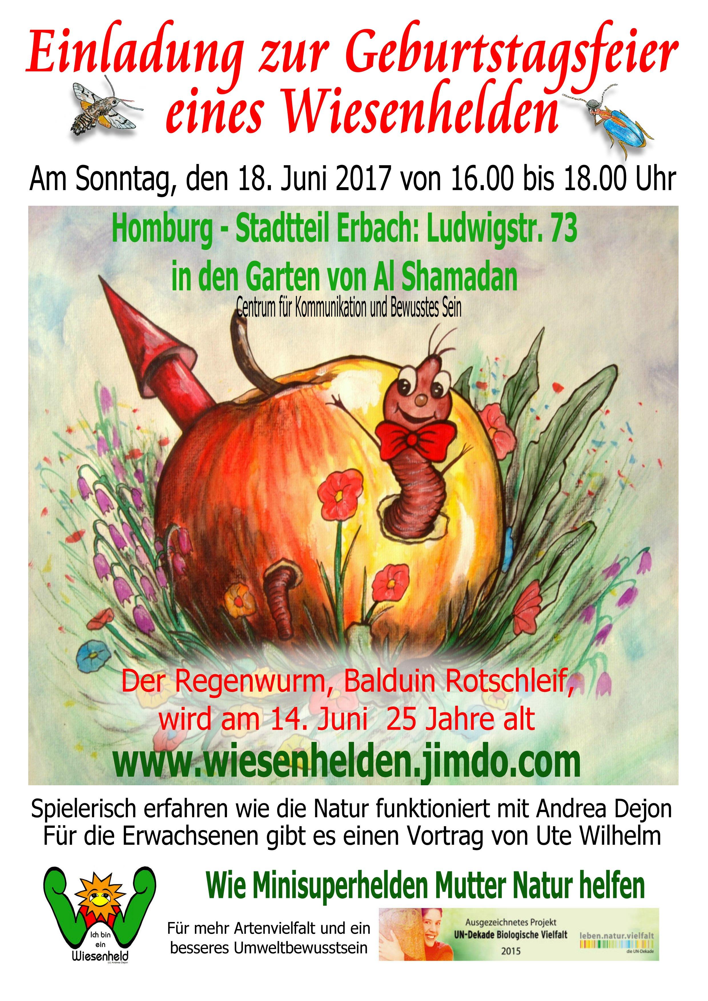 Plakat zur Geburtstagsfeier von Balduin Rotschleif aus 2017
